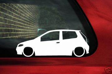 2x LOW Fiat Punto Mk2B facelift 16v,JTD outline stickers.for punto 2nd gen (188) (1)
